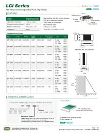 LCI thin film resistor